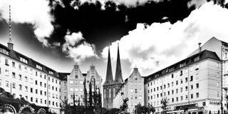 Berlin-Besichtigung Künstlerischer Blick in Schwarzweiss Stockfotos
