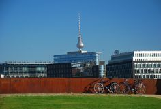 Berlin by bike Stock Image