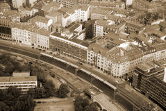 Berlin bird eye view Royalty Free Stock Photos