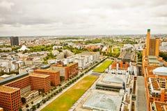 Berlin, bird's eye panoramic, futuristic residential architectur Stock Images