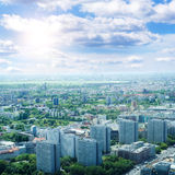 Berlin bird's-eye view. Royalty Free Stock Image