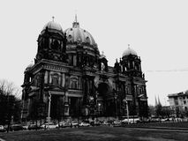 Berlin. Black and white view from the park Stock Photo