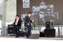 Berlin Blues Brothers de concert Images libres de droits