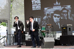 Berlin Blues Brothers i konsert Royaltyfria Bilder