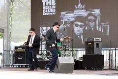 Berlin Blues Brothers in overleg Royalty-vrije Stock Afbeeldingen
