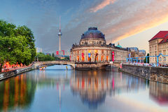 Berlin, Bode museum with reflection in Spree, Germany Royalty Free Stock Photography
