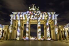 Berlin Brandenburg-de Piek van poortbrandenburger bij zonsondergang Royalty-vrije Stock Fotografie