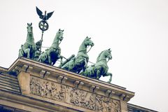 Berlin Brandenburg Gate Brandenburger Tor, Berlijn, Duitsland stock afbeelding