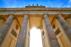 Berlin Brandenburg Gate Brandenburger Tor Stock Image