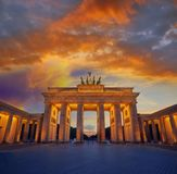 Berlin Brandenburg Gate Brandenburger Tor. At sunset in Germany Royalty Free Stock Photo
