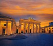 Berlin Brandenburg Gate Brandenburger Tor. At sunset in Germany Stock Photos