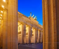 Berlin Brandenburg Gate Brandenburger Tor. At sunset in Germany Royalty Free Stock Photography