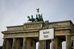 Berlin Brandenburg gate. (Brandenburger Tor), Germany Stock Photography