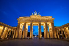 Berlin Brandenburg Gate Brandenburger Tor. At sunset in Germany Stock Image