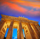 Berlin Brandenburg Gate Brandenburger Tor. At sunset in Germany Stock Photo