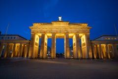 Berlin Brandenburg Gate Brandenburger Tor. At sunset in Germany Royalty Free Stock Images