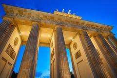Berlin Brandenburg Gate Brandenburger Tor. At sunset in Germany Royalty Free Stock Image