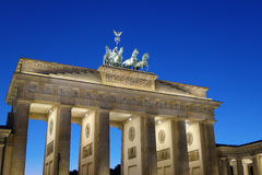 Berlin Brandenburg Gate At Dusk Stock Photos