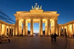 Berlin, Brandenburg Gate at dusk Stock Photo