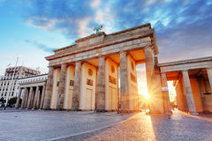 Berlin, Brandenburg gate, Germany Royalty Free Stock Photos