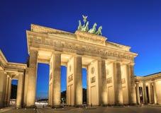 Brandenburg Gate, Berlin, Germany. Brandenburg Gate at night, Berlin, Germany stock photos