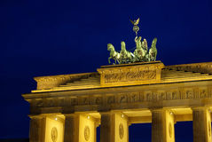Berlin Brandenburg Gate night Stock Images