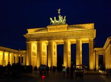Berlin Brandenburg Gate night Royalty Free Stock Images