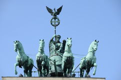Berlin brandenburg gate quadriga Stock Photos