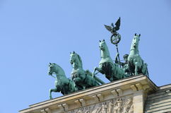 Berlin brandenburg gate quadriga Royalty Free Stock Image