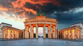 Berlin - Brandenburg Gate, Time lapse stock video