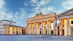 Berlin - Brandenburg Gate, Time lapse, Germany stock video