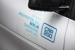 Car2go in berlin germany royalty free stock photo