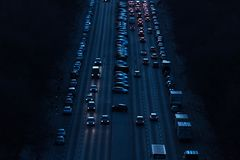Cars at night on the strees of berlin germany royalty free stock photography