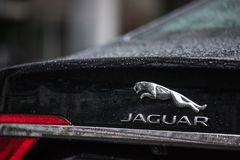 Jaguar car in berlin germany stock photography