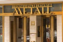 Berlin brandenburg/Tyskland - 15 03 19: IG Metall byggnad i berlin Tyskland royaltyfri fotografi