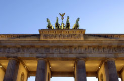 Berlin - Brandenburg. View of Brandenburg gate in Berlin Royalty Free Stock Image