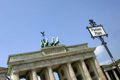 Berlin - Brandenburg. View of Pariser Platz in Berlin - Germany Royalty Free Stock Photo