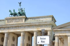 Berlin brandenburger tor Royalty Free Stock Photo