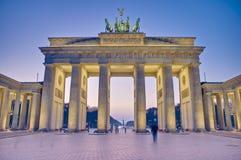 berlin brandenburgergermany tor royaltyfri bild