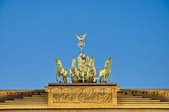 berlin brandenburgergermany tor arkivbilder