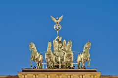 berlin brandenburgergermany tor royaltyfria foton