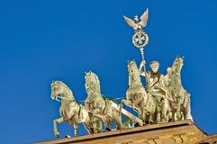 berlin brandenburgergermany tor royaltyfri fotografi