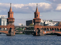 Berlin bridge. Picture of a bridge in Berlin Stock Photo
