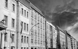 Berlin Buildings near Spree River Royalty Free Stock Photos
