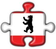 Berlin button flag puzzle shape Stock Images