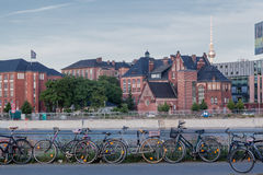 Berlin Bycicles Tv Tower Royalty Free Stock Photo