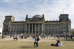 berlin byggnadsreichstag Arkivfoto