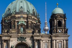 Berlin Cathedral. The Berliner Dom or Berlin Cathedral is the most important Protestant (Evangelical Church in Germany) church in Berlin, and was built between Royalty Free Stock Photos