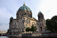 Berlin cathedral. German: Berliner Dom is the colloquial name for the Evangelical Oberpfarr- und Domkirche (English analogously: Supreme Parish and Collegiate Stock Photography