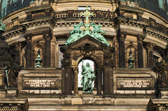 Berlin Cathedral. A fragment of Berliner Dom (Berlin Cathedral Royalty Free Stock Photo